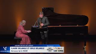 Claude Delangle et Odile Delangle plays Berceuse by G. FAURE