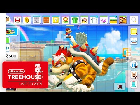 Super Mario Maker 2 Gameplay Pt. 2 - Nintendo Treehouse: Live | E3 2019 thumbnail