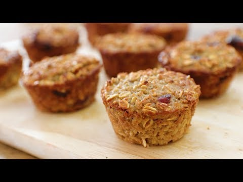 Healthy Oatmeal & Apple Muffins Recipe