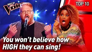 TOP 10 | INCREDIBLE High Notes in The Voice