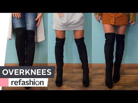OVERKNEES kombinieren: 1 Paar Stiefel, 3 Outfits ~ refashion | OTTO