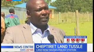 LAND TUSSLE - Farmers in Cheptiret protest over their land that now houses a police station.