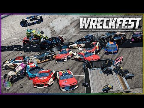 ROCK BOTTOM SUPER RACE! | Wreckfest | NASCAR Camaro's