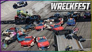 ROCK BOTTOM SUPER RACE!   Wreckfest   NASCAR Camaro's