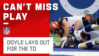 Jack Doyle Lays Out for the TD Catch! by NFL