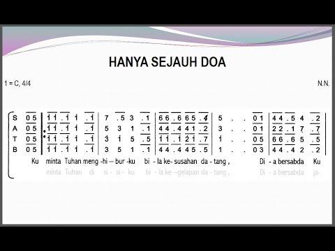 Hanya sejauh doa   satb     teks kor lagu rohani not angka