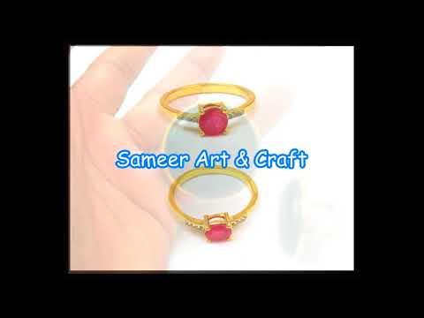 Gemstone Dyed Ruby Ring