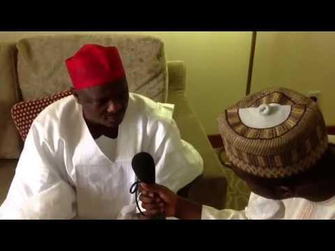 Hirar Gwamnan Kano engr Rabiu Musa Kwankwaso da BBC Hausa Yau awajen Taron  sanin Makaman  Aiki .