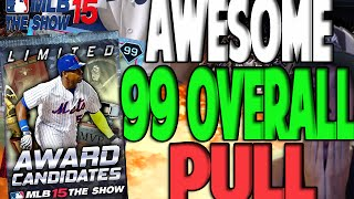 10 DIAMOND PULLS 99 OVERALL!!! | MLB 15 THE SHOW DIAMOND DYNASTY PACK OPENING | AWARD CANDIDATES