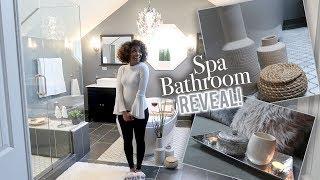 AFFORDABLE SPA BATHROOM BIG REVEAL! | BEFORE & AFTER