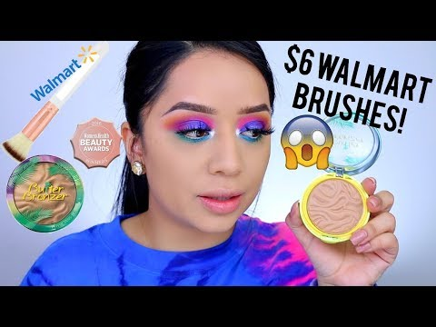 TESTING OUT PHYSICIANS FORMULA NEW BUTTER BRONZER SHADE! WALMART/EQUATE BRUSHES REVIEW!