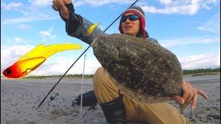 ルアーでヒラメ釣り!遠州灘サーフ