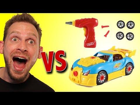 Take Apart Car Racing Modification Set Unboxing