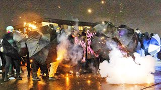video: Projectiles fired as protesters and police clash again over Daunte Wright shooting