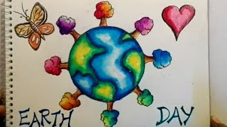 Earth Day Drawing For Kids || Save Earth, Save Environment Drawing || Easy Save Earth Drawing