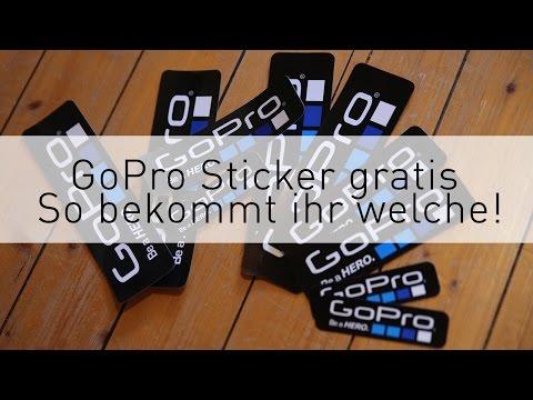 GoPro Sticker / Aufkleber Gratis - So bekommt ihr Welche!