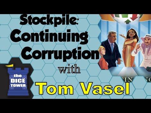 Dice Tower Reviews: Stockpile: Continuing Corruption