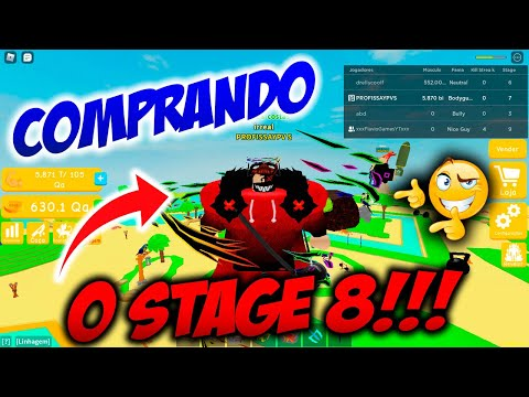 ROBLOX  Lifting Simulator   Como CONSEGUI O STAGE 8!!!