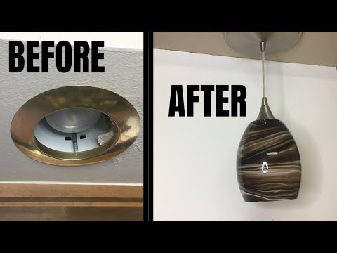 5 Minute Can Light to Pendant Light Install