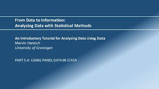 Statistics Made Easy 5.5: Using Panel Data in Stata