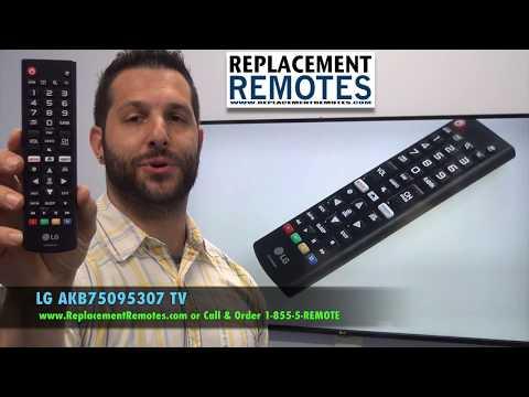 LG AKB75095307 TV Remote Control