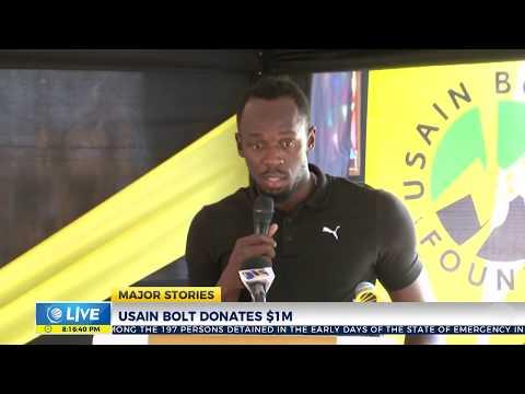Usain Bolt donates $1Million
