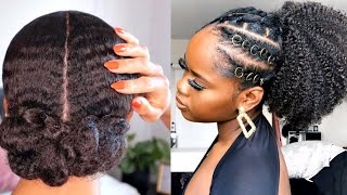 GROW LONG NATURAL HAIR WITH THESE STYLES