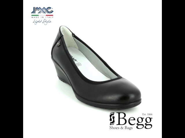 c0f7eff696ea IMAC Ambra Plain 105630-140011 Black Wedge Shoes