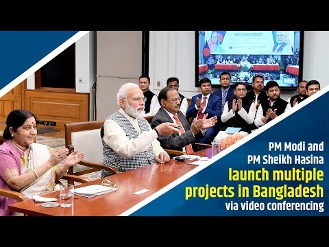 PM Modi and PM Sheikh Hasina launch bus service via video conferencing in Bangladesh