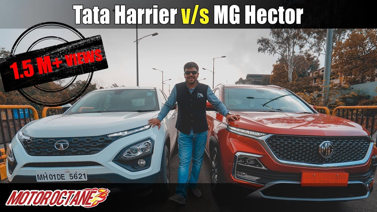 Motoroctane Youtube Video - MG Hector vs Tata Harrier Comparison | Hindi | MotorOctane