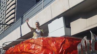 Catriona Gray Homecoming Parade Dumaan Sa Kahabaan ng LRT Taft