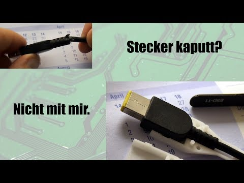 BitBastelei #317 - Netzteil-Stecker kaputt? Dann halt ein Quick-Fix.