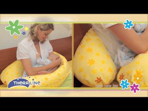 """Theraline подушка для кормления 190 см голубая """"Ослик"""""""