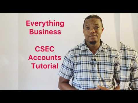 Principles of Accounts Tutorial  Introduction to CSEC Accounts  by Serain Jackson.