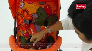 LUVLAP TUTTI FRUTTI BUGGY FOR BABIES -  BEST BUGGY FOR  BABY WITH SAFETY HARNESS – FEATURES VIDEO
