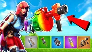 RAINBOW EXPLOSIVES CHALLENGE!!! - CUSTOM GAME - Fortnite Battle Royale