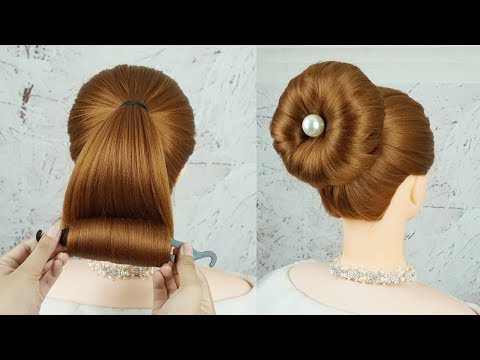 New Bun Hairstyles With Magic Hair Lock Juda Hairstyle For
