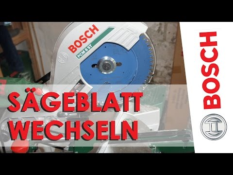 Bosch PCM 8 ST: Sägeblatt wechseln