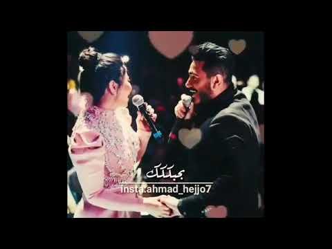 جايه اقول واعلن لكل الناس # بحبك ❤#شيرين وتامر حسني