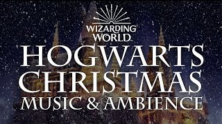 Harry Potter Music & Ambience | Hogwarts Christmas Music with Snow Sounds