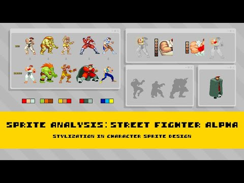 Sprite Analysis   Street Fighter Alpha: A Study of Character Stylization