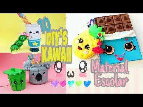 DIY KAWAII / 10 ideias de material escolar - DIY SCHOOL SUPPLIES compilation