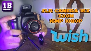 WISH: SLR Camera 16x Zoom -16mp 1080p    UMBOXING [PT-BR]