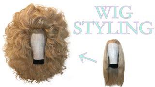 【Wig Styling Tutorial】 70's Style Big Hair. Drag Hair!! Fashion Hair!! Teasing Technique. Wig