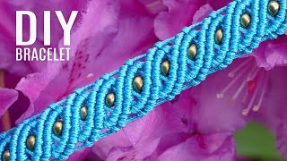 DIY Wavy Macramé Bracelet With Beads | Easy Crafts