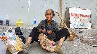 Bà cụ đi lượm ve chai bị xe đụng gãy xương không có tiền đi viện
