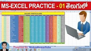 01 How to Make Salary Sheet in Excel in Telugu |Excel Practice Tutorials in Telugu | LEARN COMPUTER