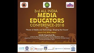 3rd All India Media Educators conference telecast on DD channels