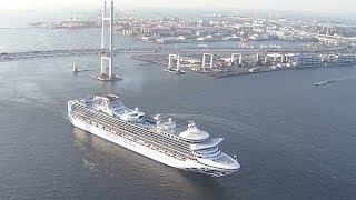 横浜港に初めて外国客船3隻が入港
