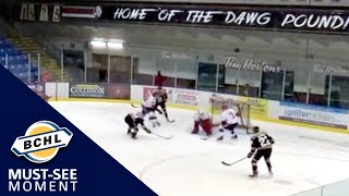 Must See Moment: Jackson Glassford shuts the door with a pair of late-period saves